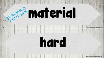 Science Living in a Material World Unit of Work and Science Journal Year 1 and 2