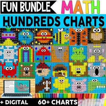 Science- MEGA BUNDLE- 35 Hidden Picture Hundreds Charts