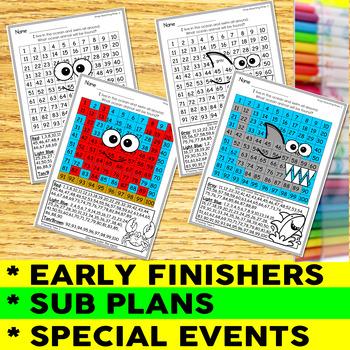 Science- MEGA BUNDLE- 40 Hidden Picture Hundreds Charts