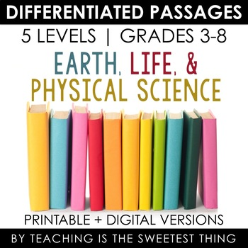 Science MEGA BUNDLE: ALL Science Differentiated Reading Passages