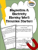 Science Magnetism and Electricity Morning Work Discussions