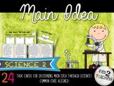 Science Main Idea Task Card Activity Pack 2