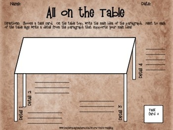 Science Main Idea Task Card Activity Pack 3