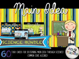 Science Main Idea Task Card Activity Pack 3 in 1 Bundle
