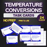 NO PREP Science TASK CARDS Temperature Conversion STEM - A