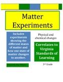 Science Matter Experiments -  VA SOL Correlated