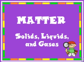 Science:  Matter- Interactive Whiteboard Activity