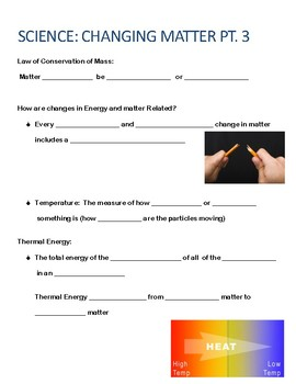 Science Matter Notes/ Labs/ Reviews/Quizzes