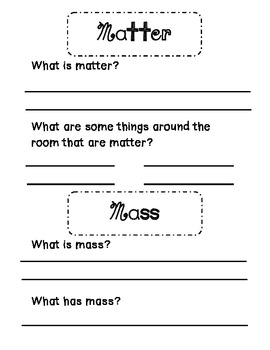 Science Matter Packet