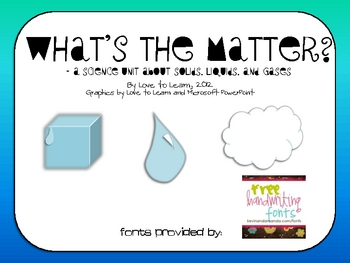 matter science gases liquids solids unit gas solid liquid printable states display teacherspayteachers teaching study visit sold