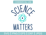 Science Matters Atom File and Clip Art - SVG, PNG, EPS, DXF, JPG