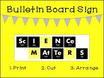 Science Matters Bulletin Board Sign