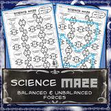 Science Maze Balanced & Unbalanced Forces