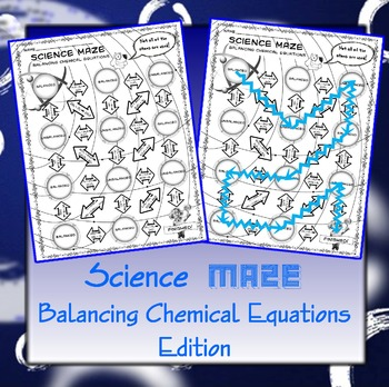 Science Maze Balancing Chemical Equations