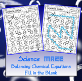 Science Maze Balancing Chemical Equations (Fill in the Blank)