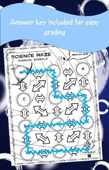 Science Maze Chemical Symbols