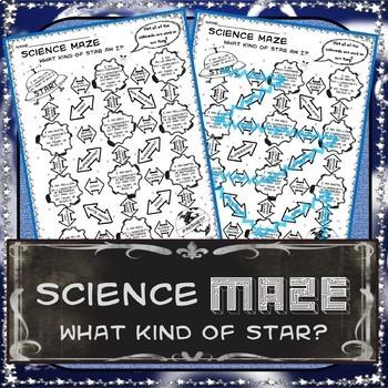 Science Maze - H-R (Herztsprung-Russell) Diagram  - 8th Grade Science