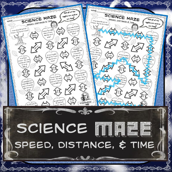 Science Maze Speed, Distance, and Time