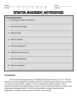 Science Measurement Lab -  (Calculating Percentages)