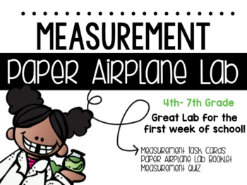Science Measurement Paper Airplane Lab