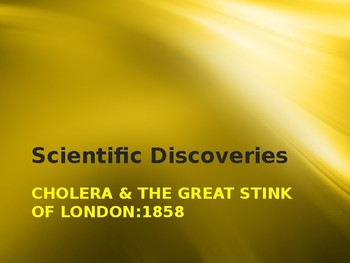Science & Medicine - Cholera & the Great Stink of London