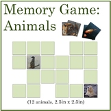 Science Memory Game: Animals with Vibrant Color Photograph