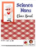 Science Menu Board