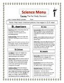 Science Menu-Human Body Systems