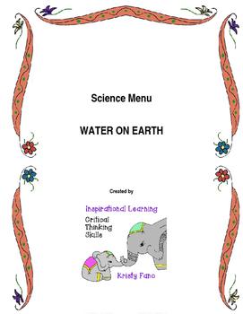 Science Menu- Water on Earth