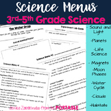 Science Menus - Assessing 3rd-5th Grade Science Standards