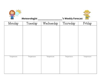 Science: Meterologist Weather Report Grades K-5
