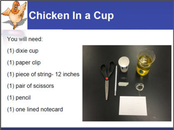Science Model Building and Applying Physics: Chicken in a Cup