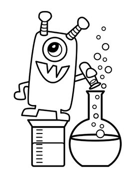 Science Monster Freebie Clipart