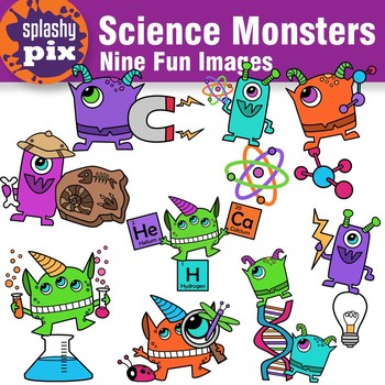 Science Monsters Clipart