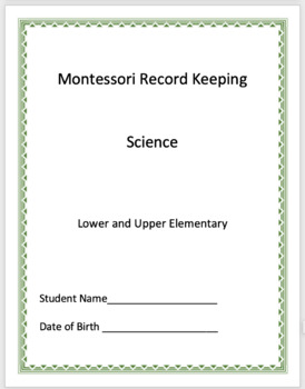 Science - Montessori Record Keeping