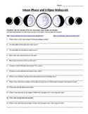 Science Activities Moon Phase, Eclipse, and Tides Webquests Activity Editable
