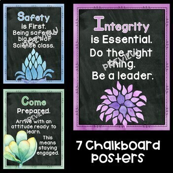 Science Motivational Posters in a Cactus Theme