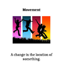 Science: Movement and energy vocabulary with pictures