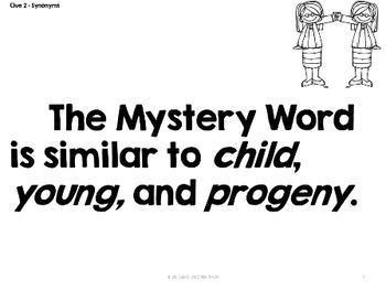 Mystery Word of the Week ~ Science