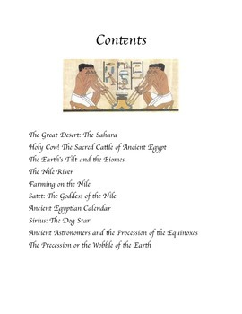 Science, Myths and Legends of the Ancient Egyptians Common Core activities