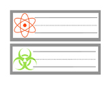 Science Name Plates