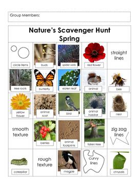 Science- Nature Scavenger Hunt (Spring), Field Trip