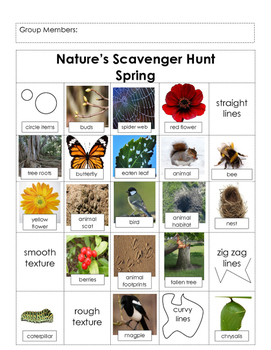 Science- Nature Scavenger Hunt (Spring), Field Trip
