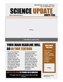 Science Newspaper Template