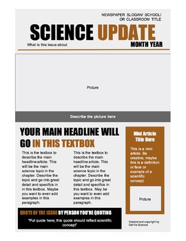 Science Newspaper Template