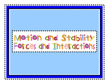 "Science Next Generation Standards Kindergarten ""I Can"" Statements"