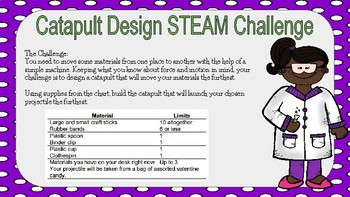 Science Night STEAM STEM Challenge Task Cards