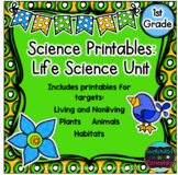 Science No Prep Printables: Life Science Unit