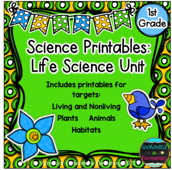 Science No Prep Printables: Life Science Unit
