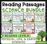 Science Non-Fiction Reading Comprehension Passages & Questions Bundle
